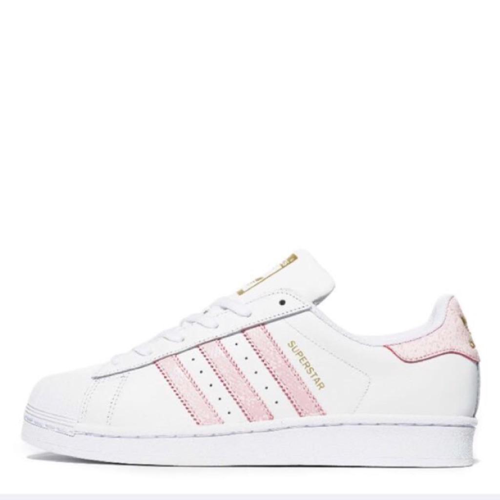 Authentic adidas superstar Baby Pink shopee Singapur