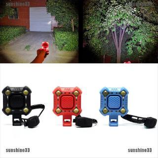 USB Charging Rainproof Anti-theft Alarm Horn Bell Bike Front Light Warning Lamp❤