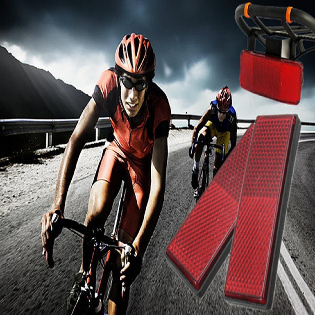 Bicycle Rear Frame Reflector Lamp Self Adhesive Water Resistant Cycle Bike