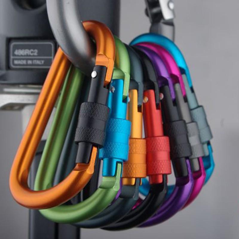 10PCS Carabiner Clip Snap Spring Clasp Hook Keyring Camping Carabina Karabiner
