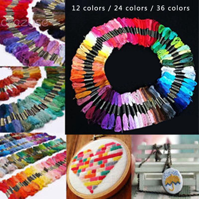 Replaces Threads Skeins 12//24//36//72-Colors Replacement Accessories Set Colors