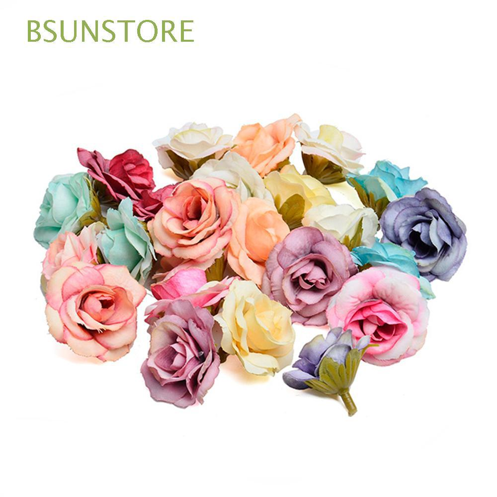 10pcs 4cm Quality Candy Box Accessories Diy Wedding Decor Rose Flower Head