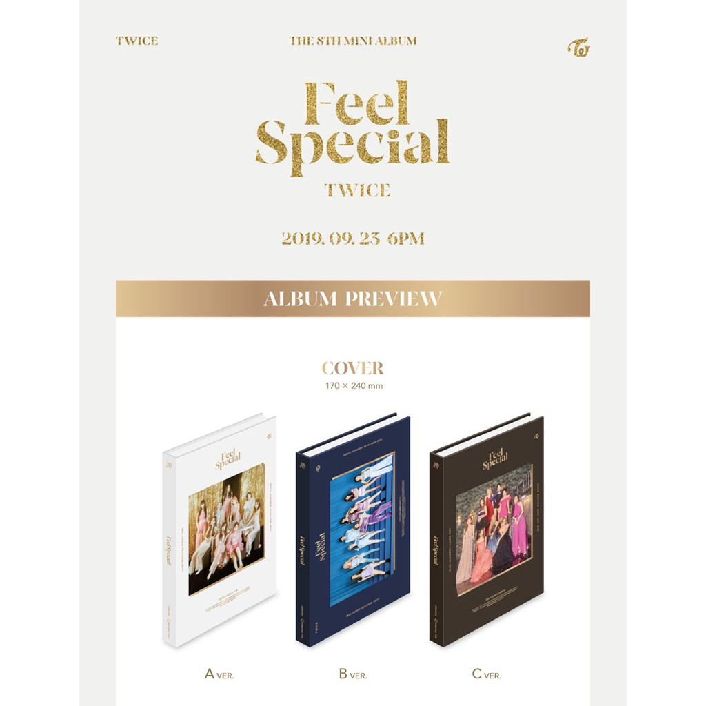 Twice Folded Poster with Extra Decorative Sticker Set Pre Order CD Photobook B ver. The 8th Mini Album Feel Special Photocards Photocard Set