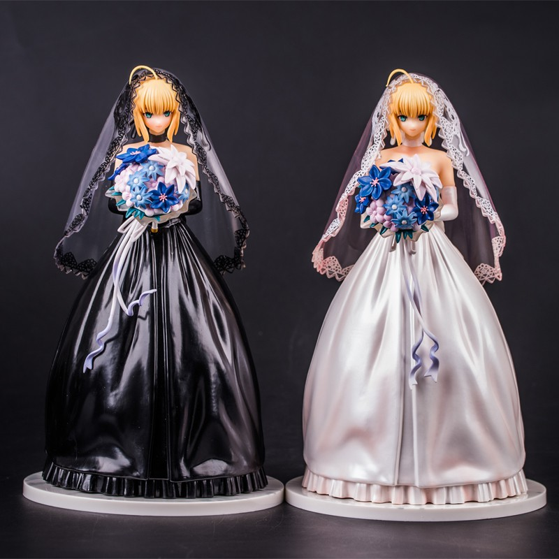 Fate//Stay Night 10th Anniversary Saber Royal Wedding Dress 25CM PVC Figure NOBOX