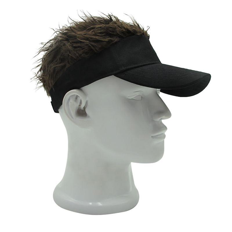 Fashion Unique Toupee Wig Baseball Hat Hook with Loop Adjustable Sun Visor Cap S