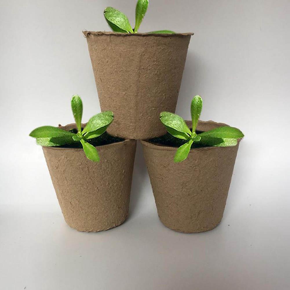 Diy Biodegradable Pots: 1pcsRound Peat Pot 8x8CM Biodegradable Pulp Cup New Garden
