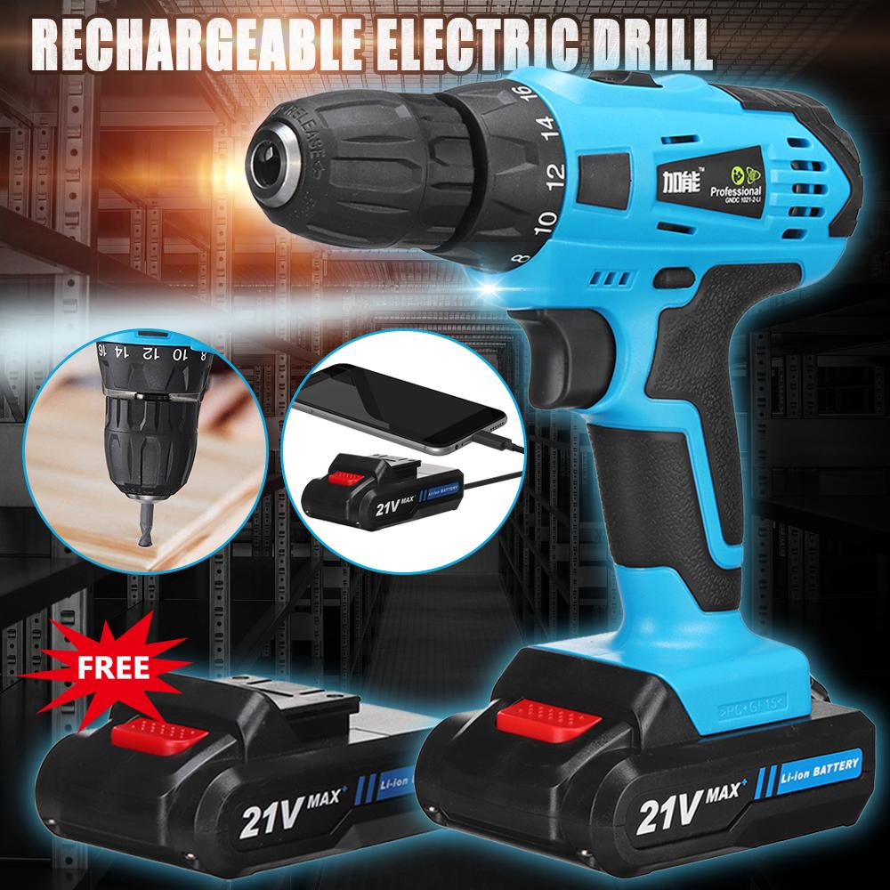 Cordless Screwdriver LED Electric Power Tool Drill Kit