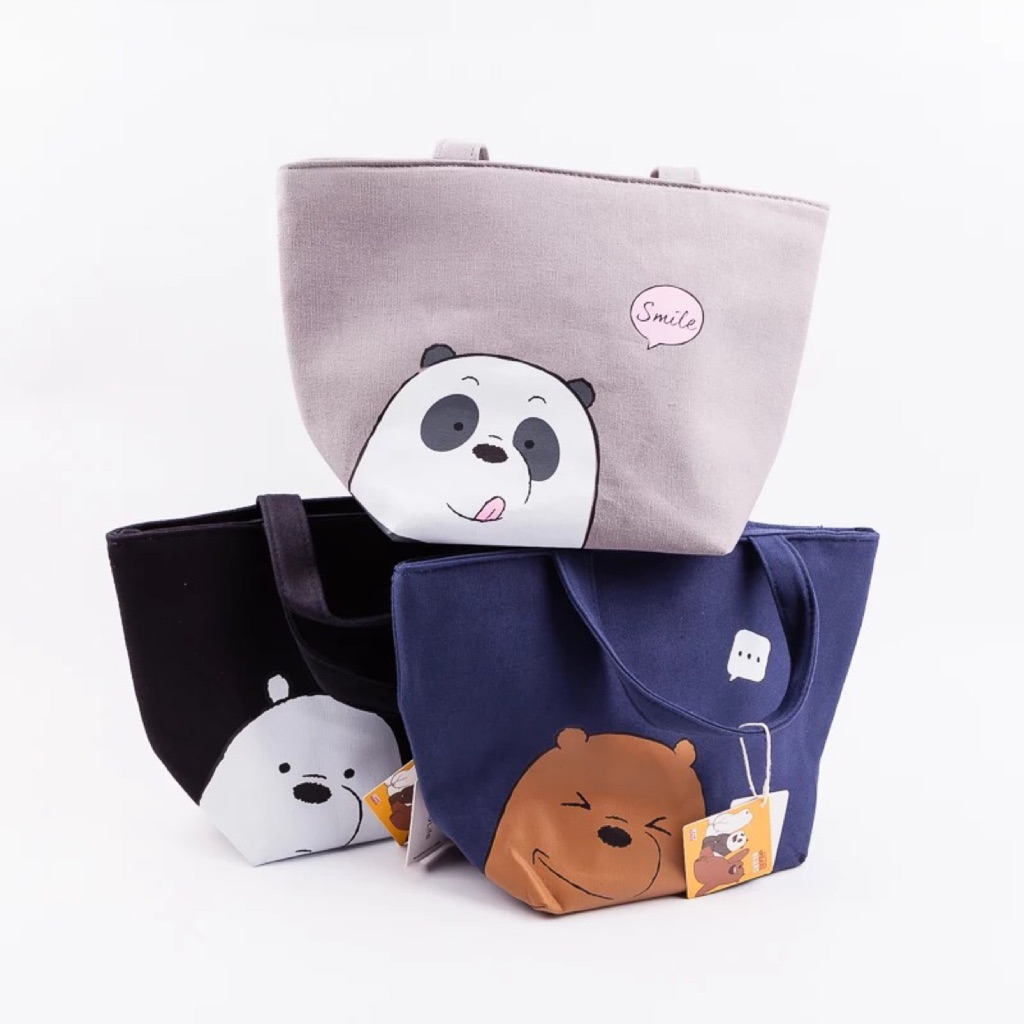 Miniso We Bare Bears Lunch Tote Bag Shopee Singapore