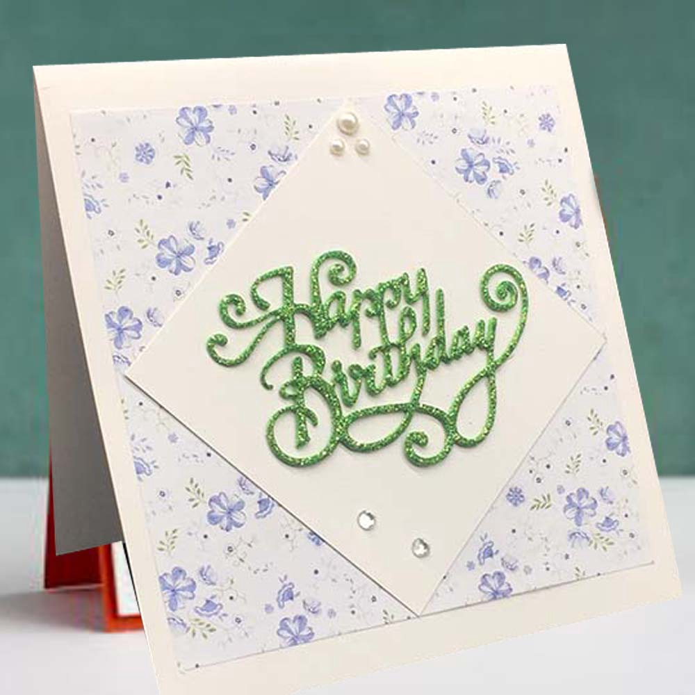 Happy Birthday Metal Cutting Dies Stencil Diy Scrapbook Paper Cards Albumdecorh