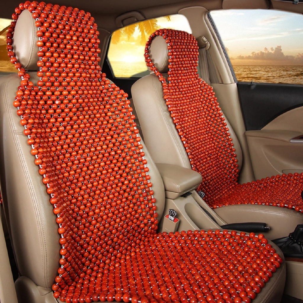 Natural Wood Wooden Beaded Massage Seat Cover Cool Cushion For Auto Car Truck