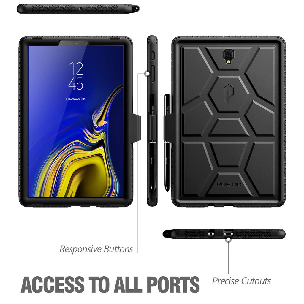 Poetic Tempered Glass Screen Protector For Galaxy Tab S4 10.5 2018 A 10.5