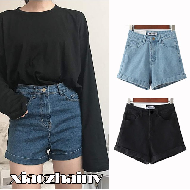 52ca63988 Ready Stock Candy Color Fashion Denim Shorts Women Tassel Casual Shorts |  Shopee Singapore