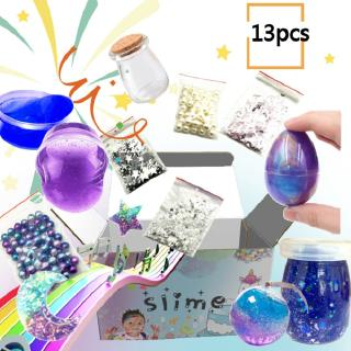 13pcs Set Soft Clay Diy Slime Kit Puzzle Toys Stress Relievers For Kids