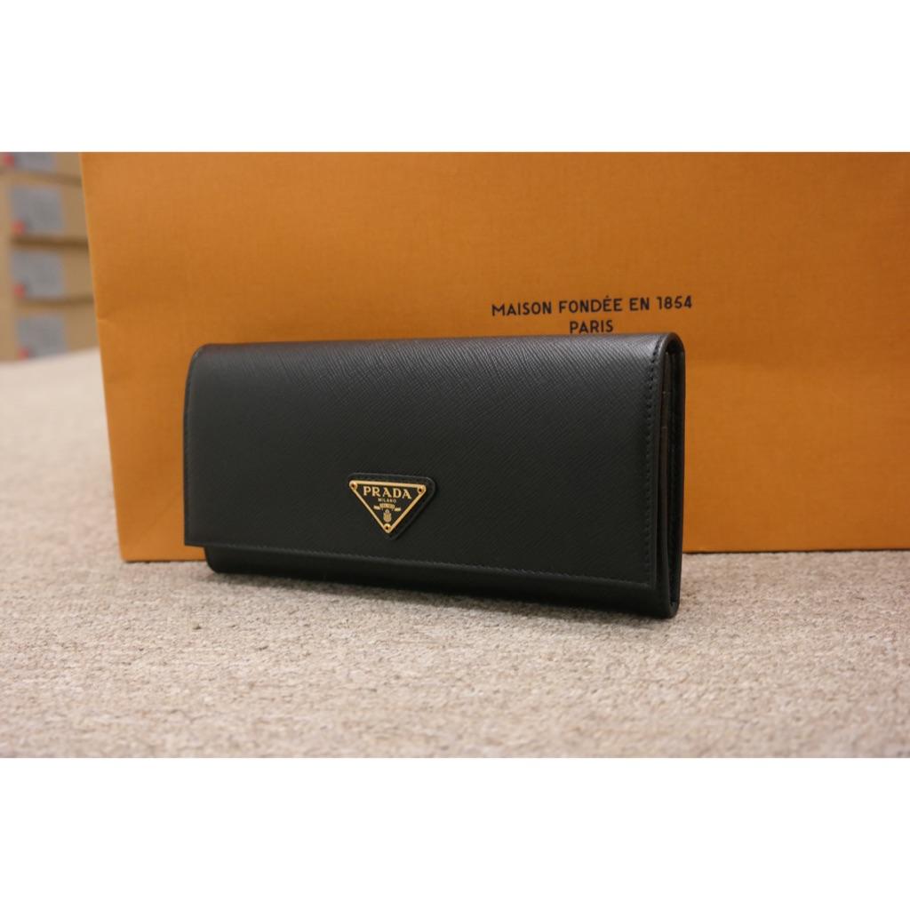 7c0f1f2f3204 Prada Saffiano Triang Wallet Black 1MH132 QHH F0002 | Shopee Singapore