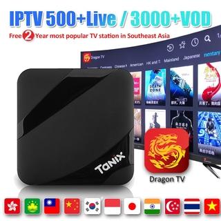 Tanix TX3 Max IPTV Box Android 7 1 2GB 16GB & 2-Year Dragon