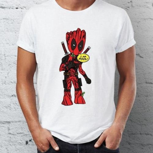 72f3ea06 Fashion Gucci Deadpool Super Hero T-shirt Mens Short Sleeves | Shopee  Singapore