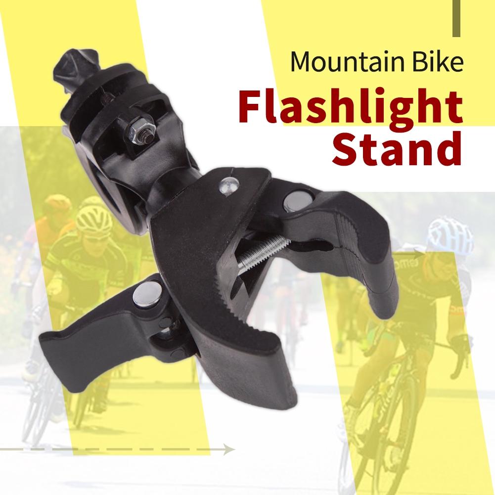 MTB Bike Bicycle Cycle 90° Rotation Flashlight Clamp Holder Mount Handlebar