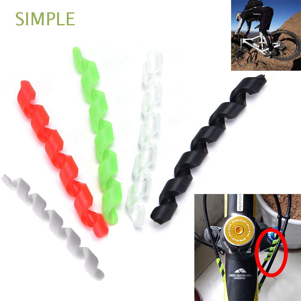 5pcs Bicycle Bike Anti-friction Brake Cable Housing Protector Cycling Line Wrap