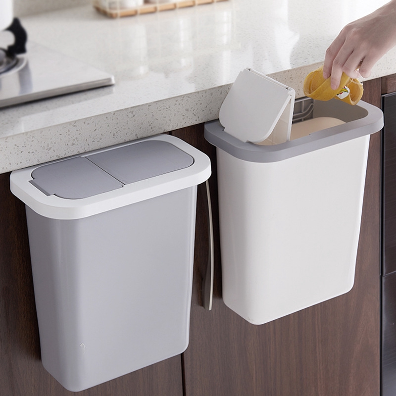Kitchen Trash Bin Cabinet Door Wall Mounted Household Kitchen Waste Classification Special Deodorable Hanging Trash Can With Lid Shopee Singapore