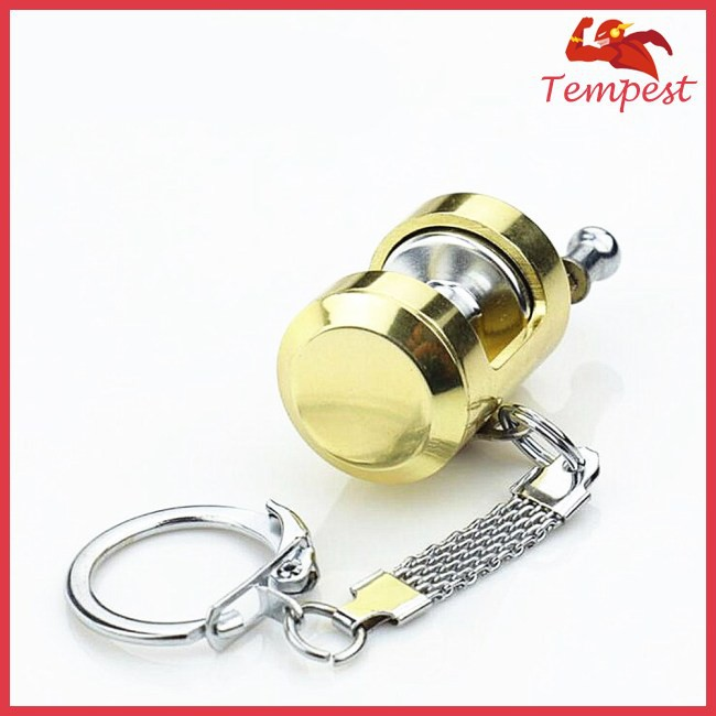 Miniature Trolling Reel Drum Wheel Key Chain Fishing Reel Pendant Angler Gift