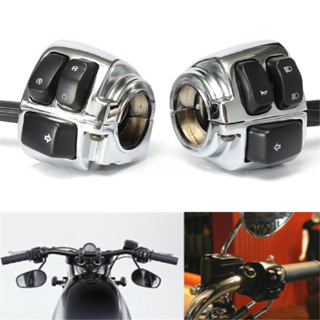 Motorcycle Chrome 1 Handlebar Switch Control Wiring Harness For Harley on