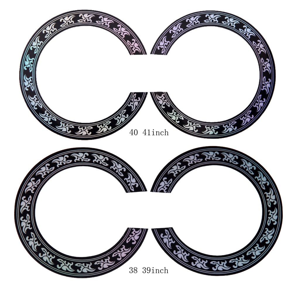 STOCKGuitar Circle Sound Hole Rosette Inlay for Acoustic Guitars Decal Accessory | Shopee Singapore
