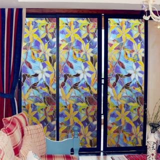 3d Static Cling Window Films Uv Blocking Frosted Floral