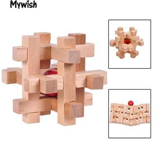 Wooden Digital Puzzle IQ Brain Teaser Kong Ming Luban Lock Recreational Toy