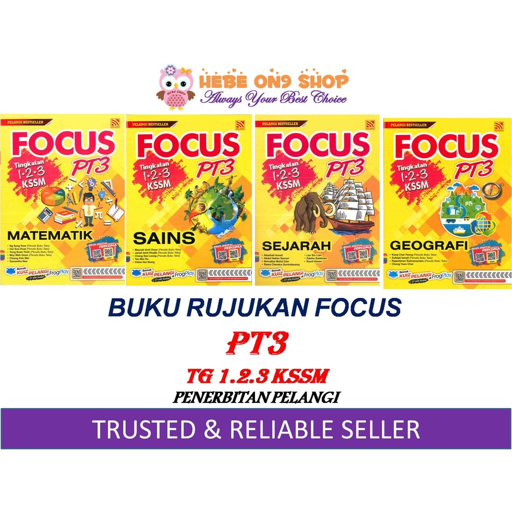 Buku Rujukan Focus Pt3 Kssm 2019 Tg 1 2 3 Pelangi Shopee Singapore