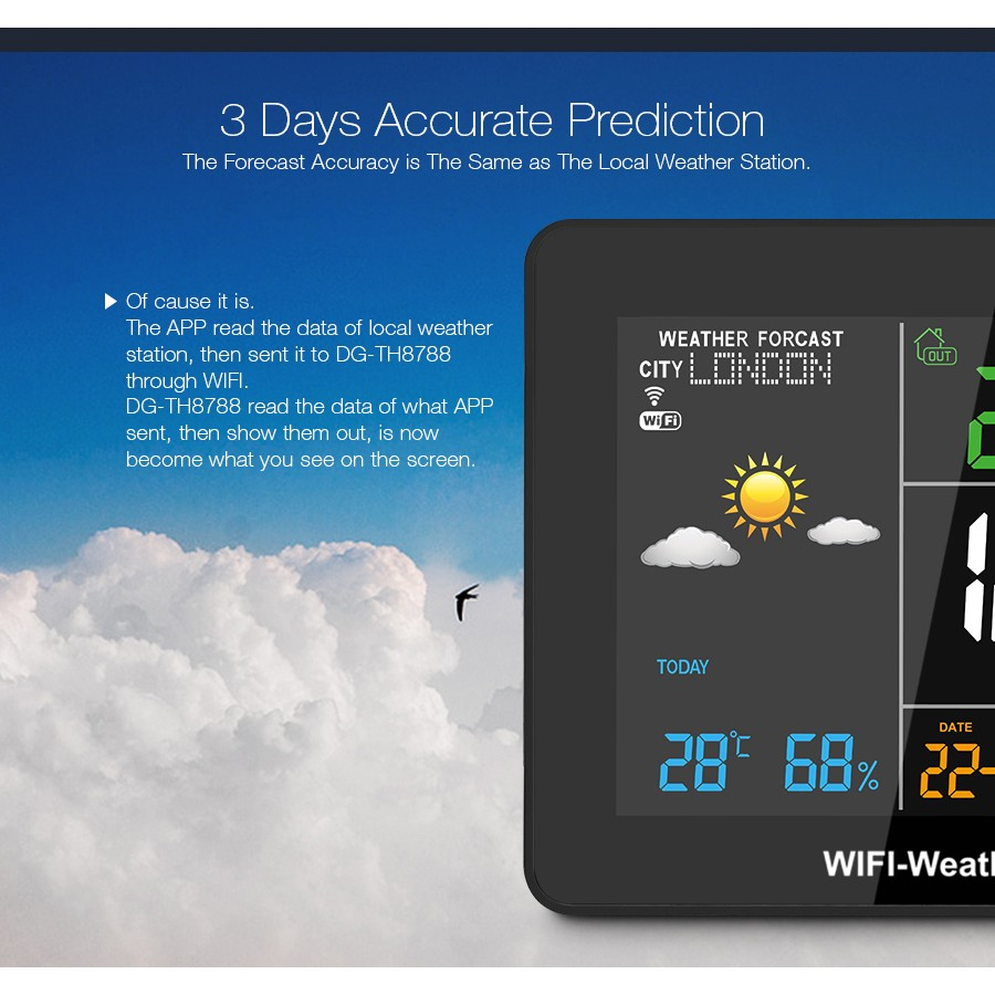 DIGOO DG-TH8788 WIFI Weather Station Setting Automatic