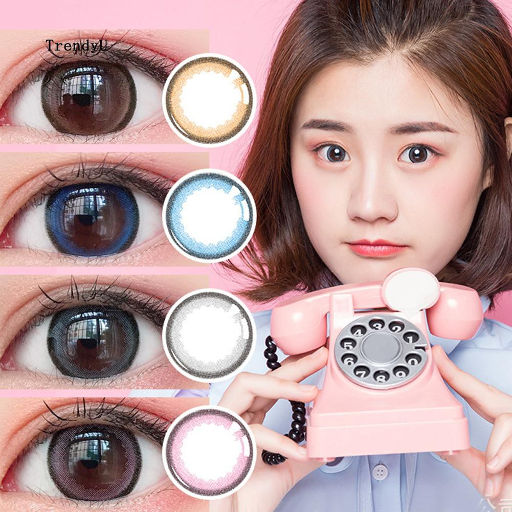 💕NCM™ 1Pc Fashion Round Big Eyes Makeup Cosmetic Contact Lense Women Party  Cosplay④