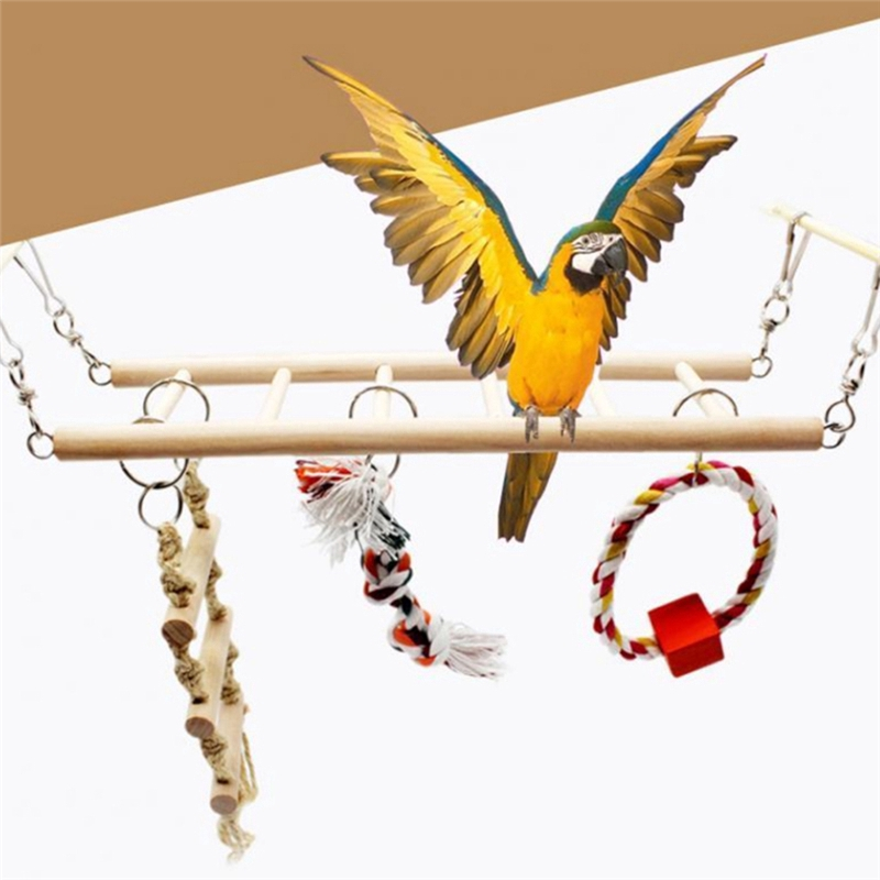 New Parrot Birds Climbing Net Jungle Rope Animals Toy Swing Ladder Chew Robe Hooks