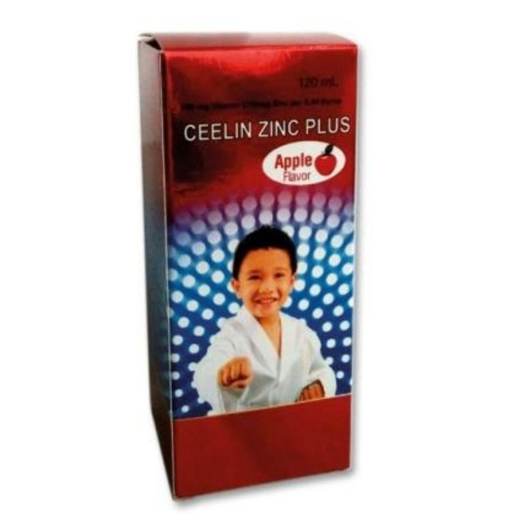 CEELIN ZINC PLUS SYRUP VITAMIN C 100MG+ ZINC 27.44MG/8ML APPLE FLAVOUR 120ML For Young Children Kids