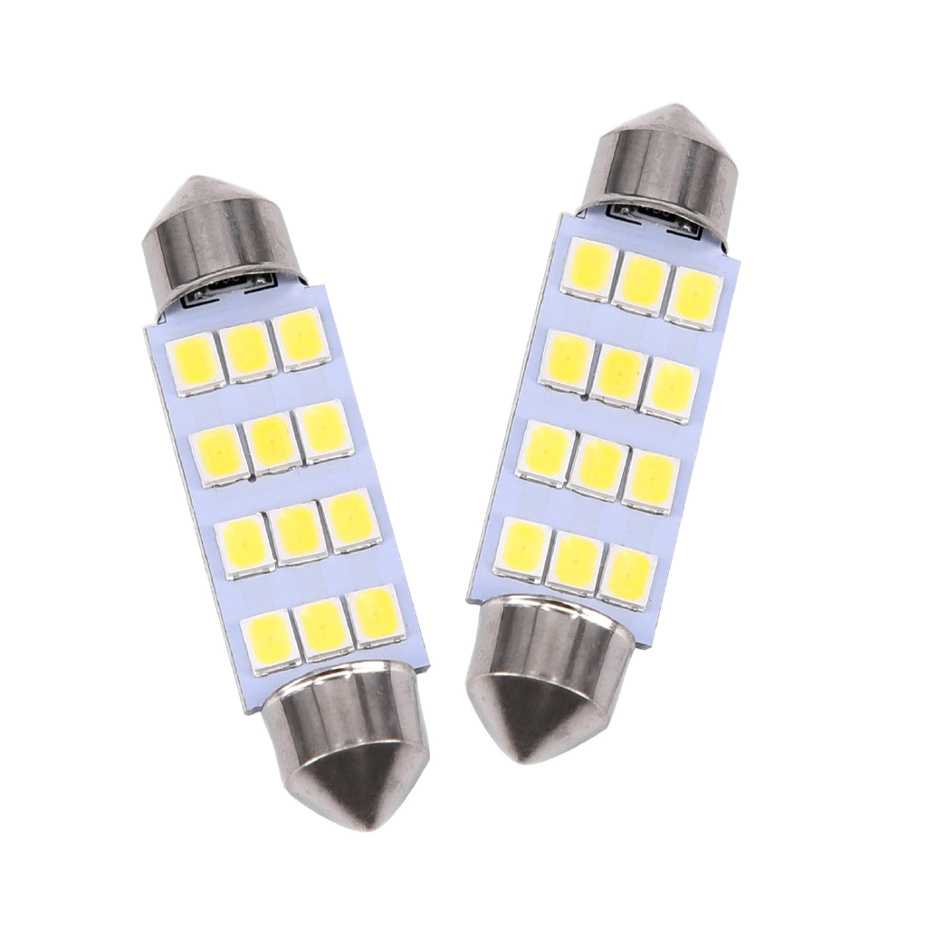 Accessories 10 X 41mm 12 Smd Led Car Interior Festoon Dome Bulb Lamp Light 12v 2.5*1*4.1cm Atv,rv,boat & Other Vehicle
