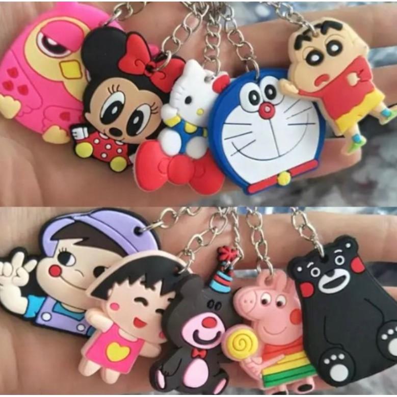 Cute Cartoon Disney Marvel DC Key Chain Key Ring PVC Keychain