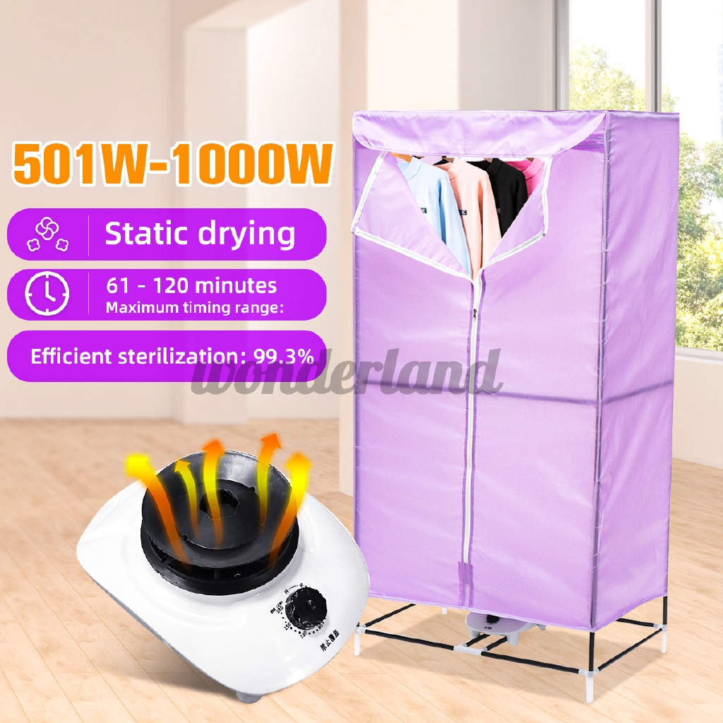 150cm Portable Electric Hot Air Clothes Dryer Drying Laundry Wardrobe 501w 1000w Shopee Singapore