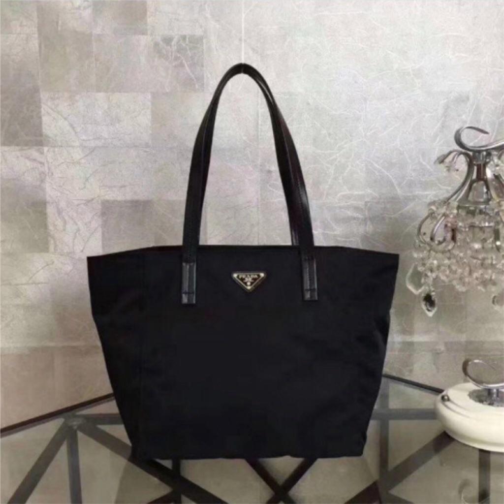 af739b4a8c Prada Tessuto Saffiano Tote Bag (Nero) | Shopee Singapore