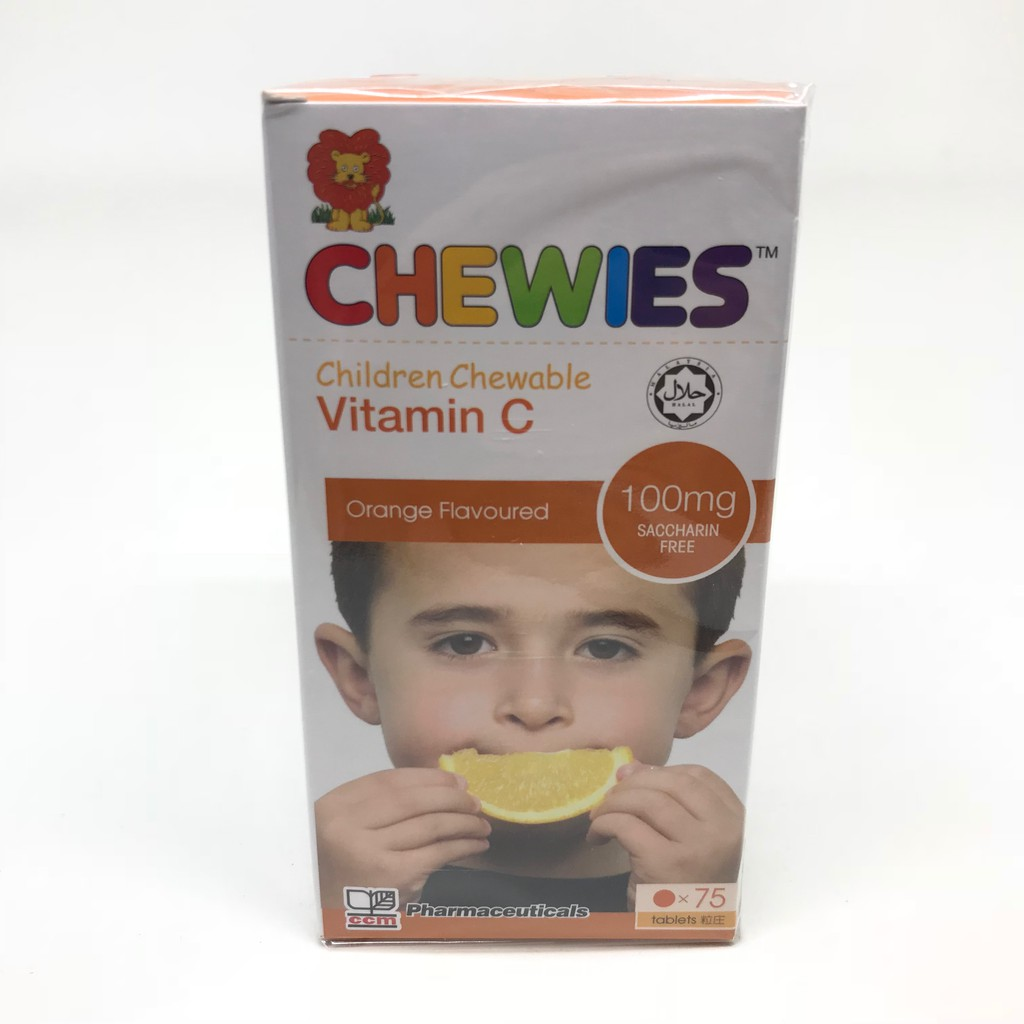 Chewies Children Chewable Vitamin C 100mg 75s