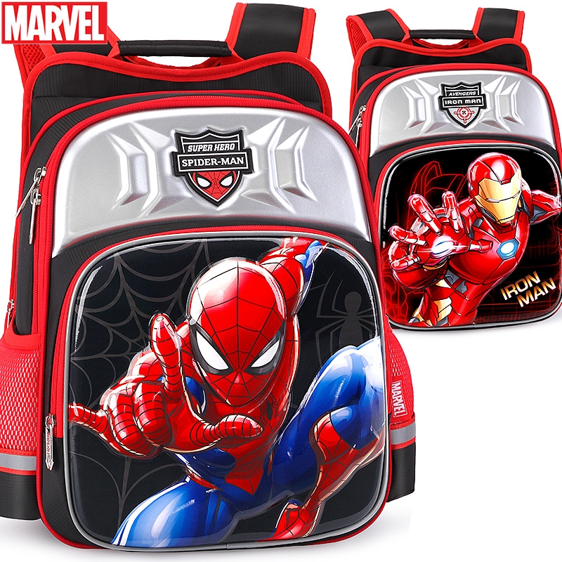 Disney Spiderman Cartoon Kids Boys School Bag Beg School Backpack Travel Bags Shopee Singapore