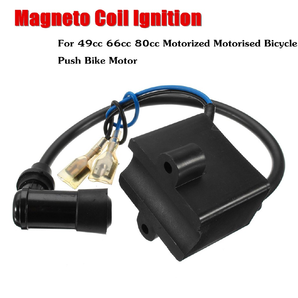 CDI Ignition Coil /& Magneto for 49cc 60cc 66cc 80cc Engine Moto Bicycle 2-stroke