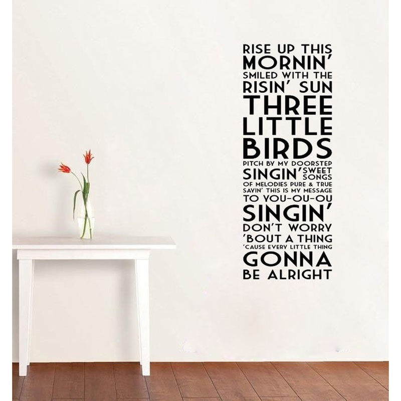 Wall Decor Quotes Bob Marley Wall Art For Home Decor Bedroom Decoration Shopee Singapore