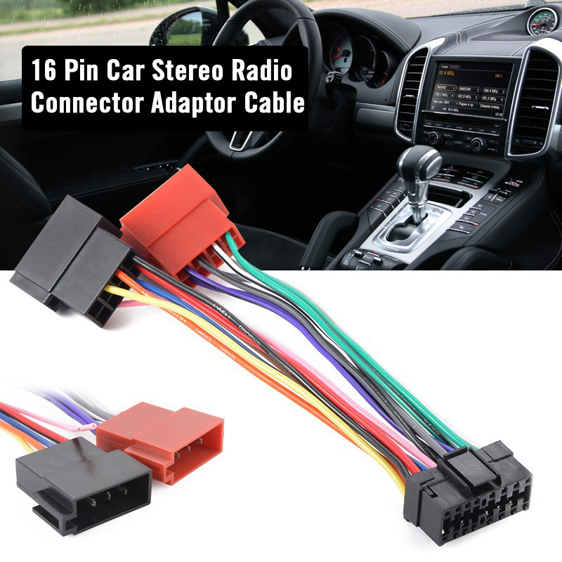 16 Pin ISO Wiring Harness Connector Adaptor Loom for Sony Car Stereo Harness Sony Diagram Wire Stereo Cdx on