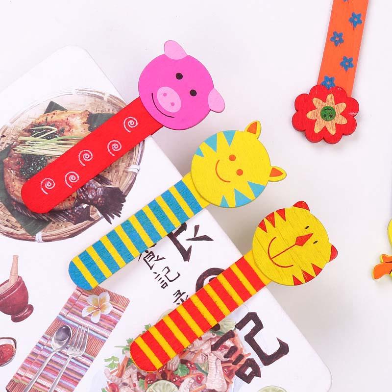 Cute Cartoon Animal Students Ruler Wave Line Drawing Tools Bookmark Supplies Hot
