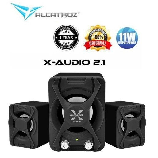Alcatroz X-Audio 2 1 Speaker with Strong Bass