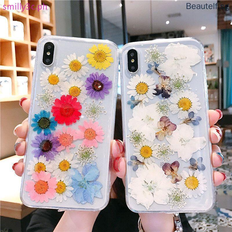 Handmade real flower for iphone XSMAX XR XS X 6 6S 7 8 Plus