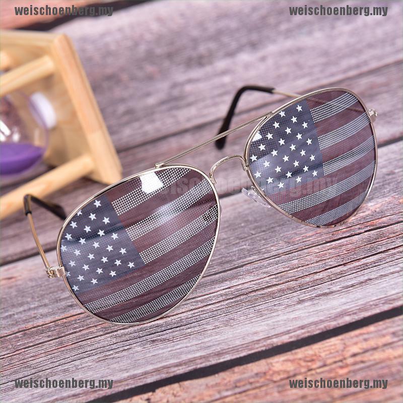 New Patriotic Lunettes de Soleil Drapeau Américain USA Lens Star Stripe pilote nuances patries