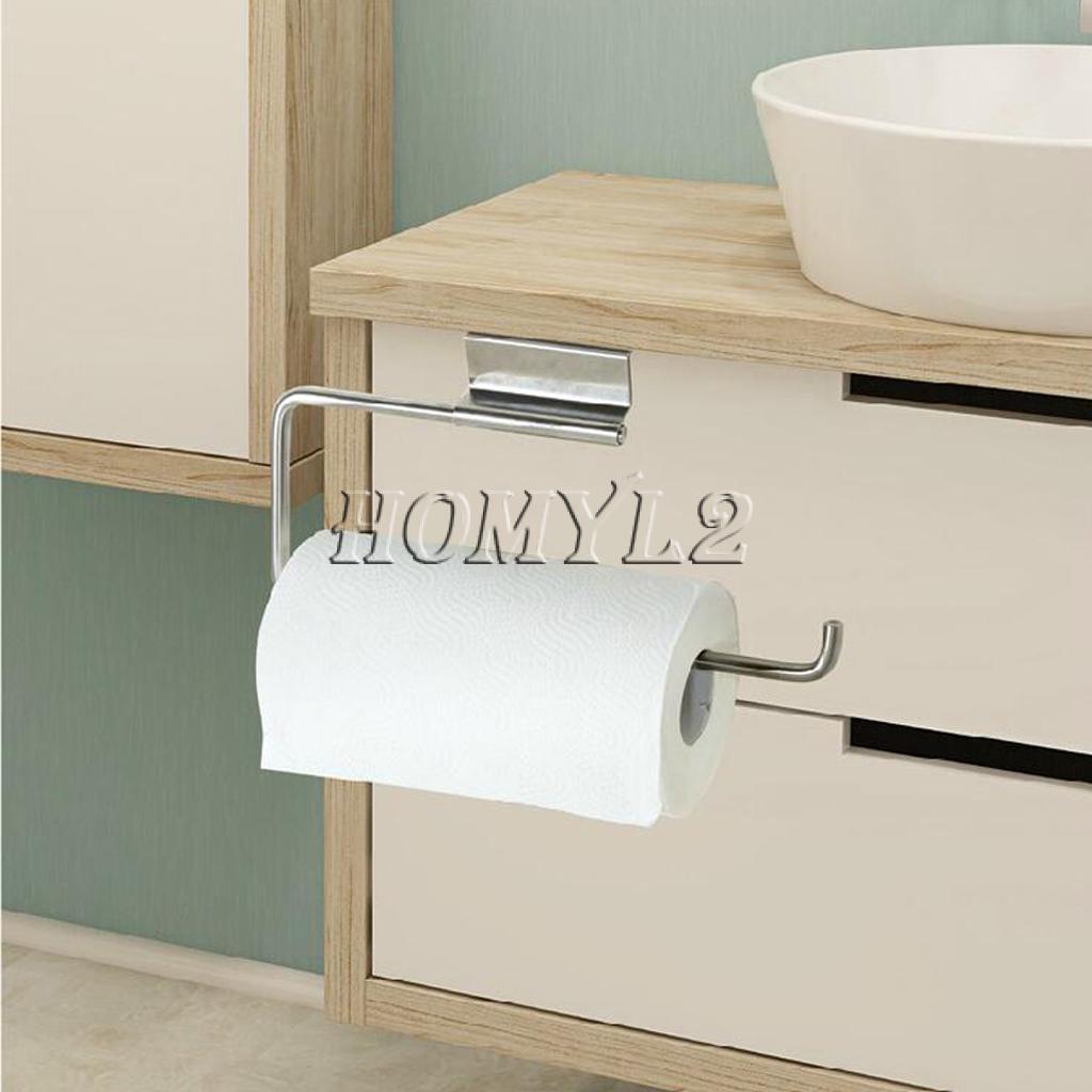 Paper Roll Towel Holder Stainless Steel Racks Under Cabinet