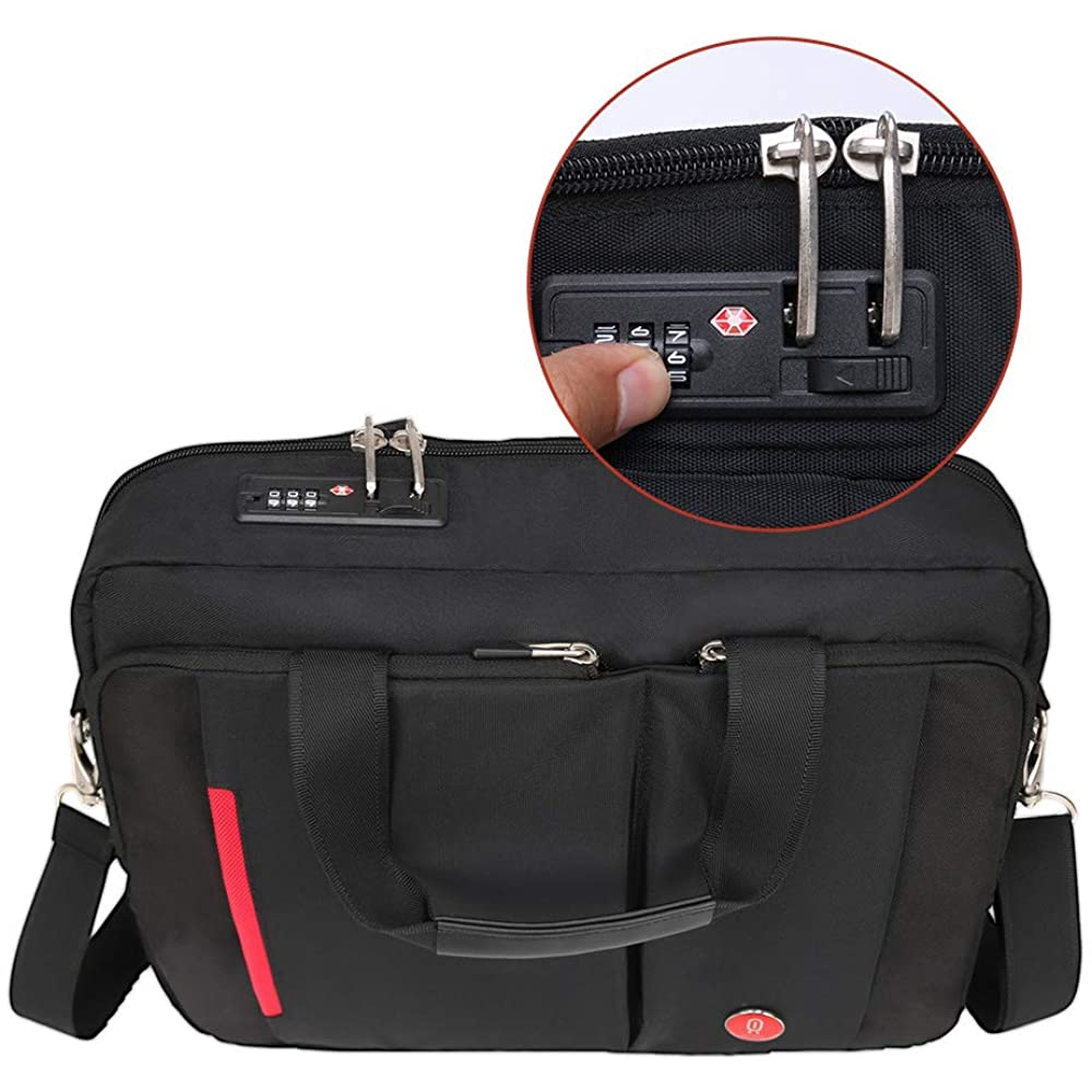 Omnpak Briefcase With Combination Lock Anti Theft Business Office Bag Laptop Sleeve Case For Men
