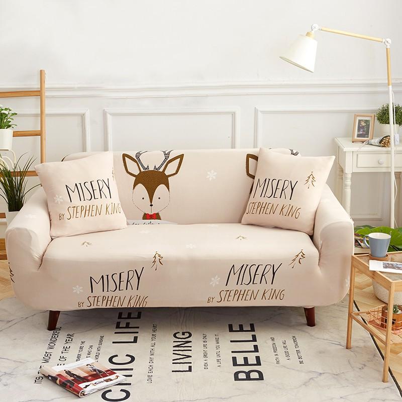 Christmas Deer Universal Stretch Sofa Covers For Living Room 1 2 3