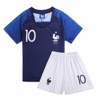 new arrivals e9a73 7fea4 2018 world cup Football France MBAPPE No.10 T-Shirt for ...